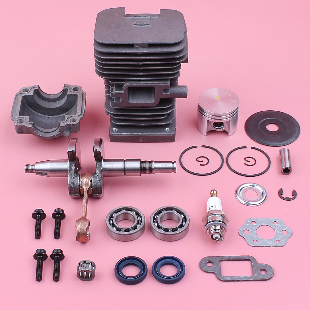 38mm Cylinder Piston Kit For Stihl MS180 018 MS 180 Crankshaft Crank Bearing Oil Seal Engine Pan Chainsaw Replacement Part new 38mm cylinder piston rings needle bearing kit for stihl ms180 ms 180 018 chainsaw 1130 020 1208