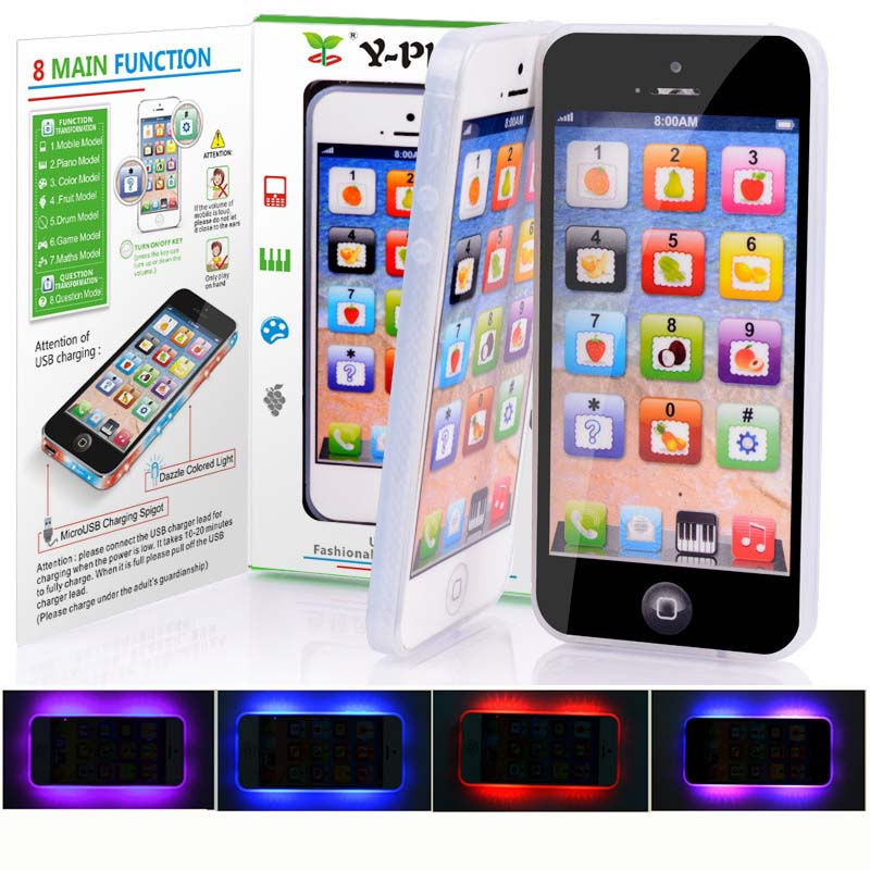 Hot Educational toys 1Piece Baby Kid Educational Y-phone English Learning Mobile Phone Toy Chrismtas New Year Gifts