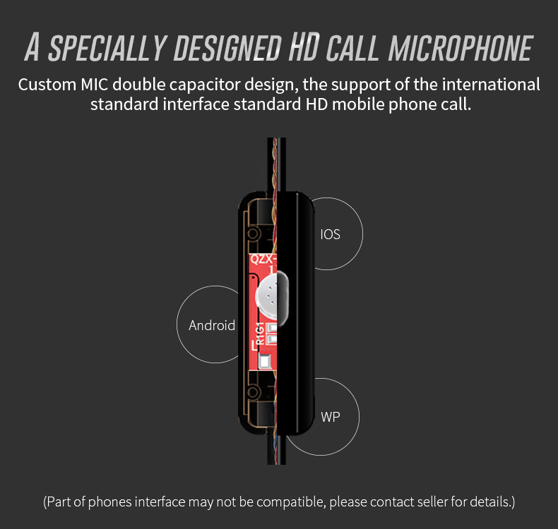 QKZ DM6 Professional In Ear Earphone Metal Heavy Bass Sound Quality Music Earphone China's High-End Brand Headset