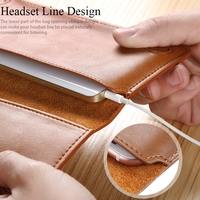 5 5 General Luxury Genuine Leather Flip Mini Purse Pouch Handwork Wallet Phone Case For IPhone