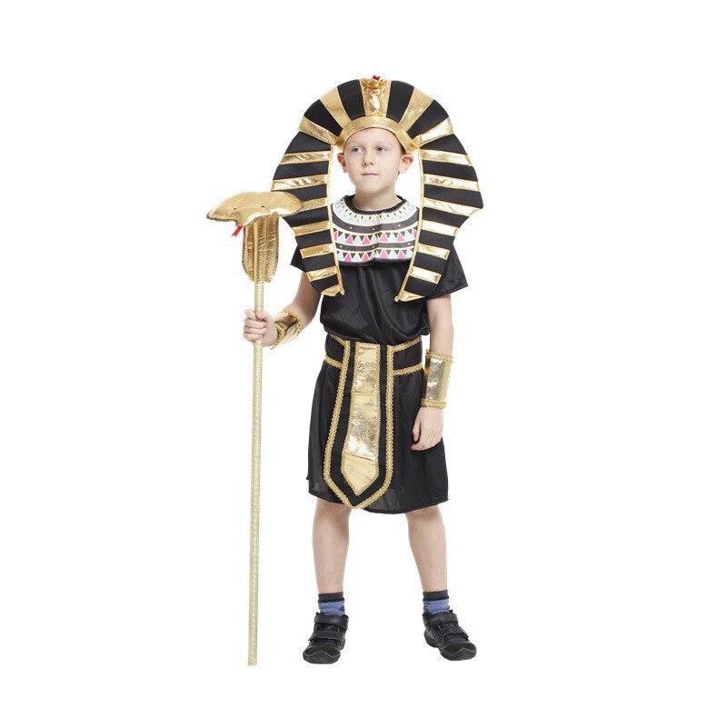 Bambini Ragazzi Faraone Egiziano Cosplay Halloween gioco re Costumi per  Bambini  giorno di Carnevale Purim performance Sul Palco vestito da Partito  in ... 074c55d750f