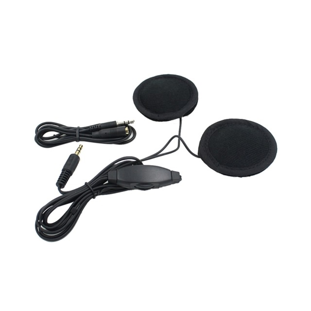 Motorbike Motorcycle Helmet Headset Speakers 3.5mm jack Earphone Headphone Speaker for Motorcycle Helmet Interphone MP3/GPS 2
