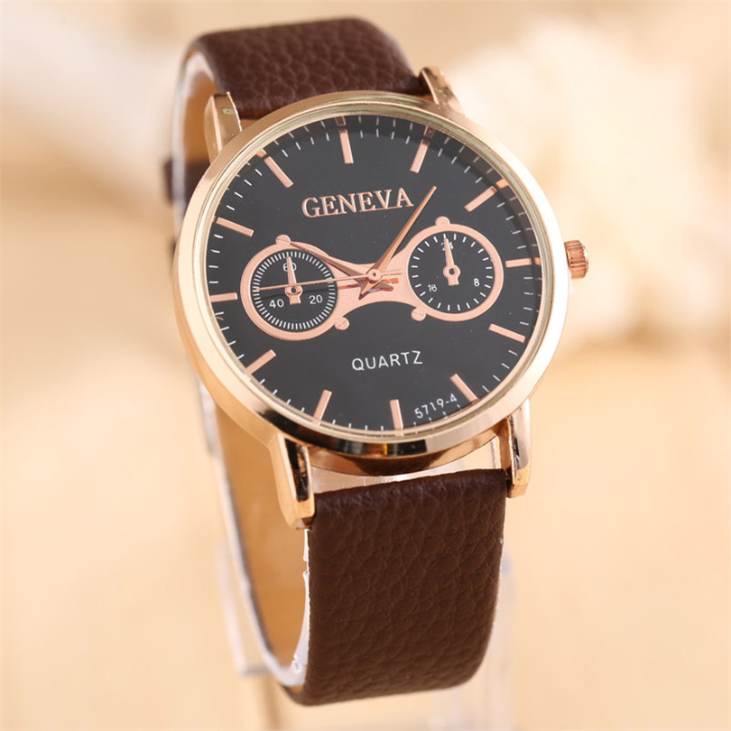 2018 Vogue Luxury Man Leather Band Analog Quartz relogios Wrist Watch Watches Fashion kol saati Simple watch Luxury Gifts F80