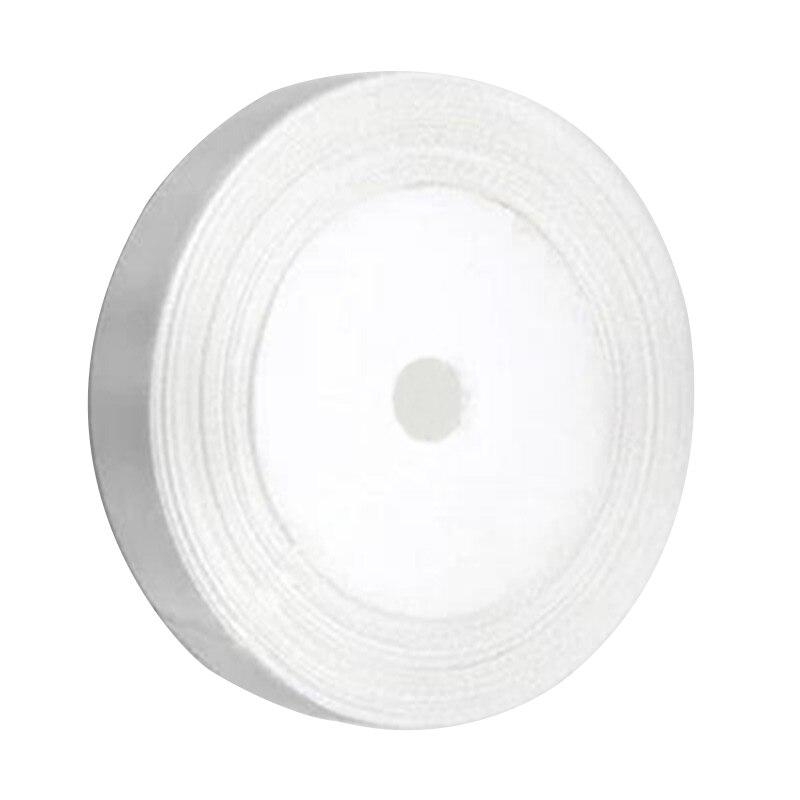 Uesh-1 roll шелковые, атласные ленты для Свадебная вечеринка (белый) 22 м длинные (25 ярдов) ширина 25 мм
