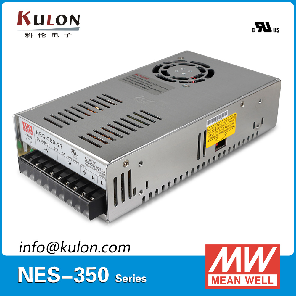 Original Meanwell NES-350-27 AC to DC single output 350W 13A 27V Mean well Power Supply NES-350 [cb]mean well original nes 350 3 3 2pcs 3 3v 60a meanwell nes 350 3 3v 198w single output switching power supply