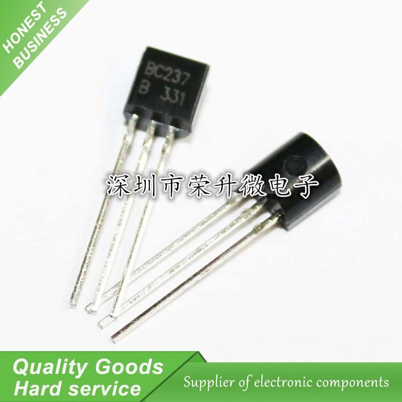 20PCS BC237B BC237 237 TO-92 NPN Low  Transistor New Original Free Shipping