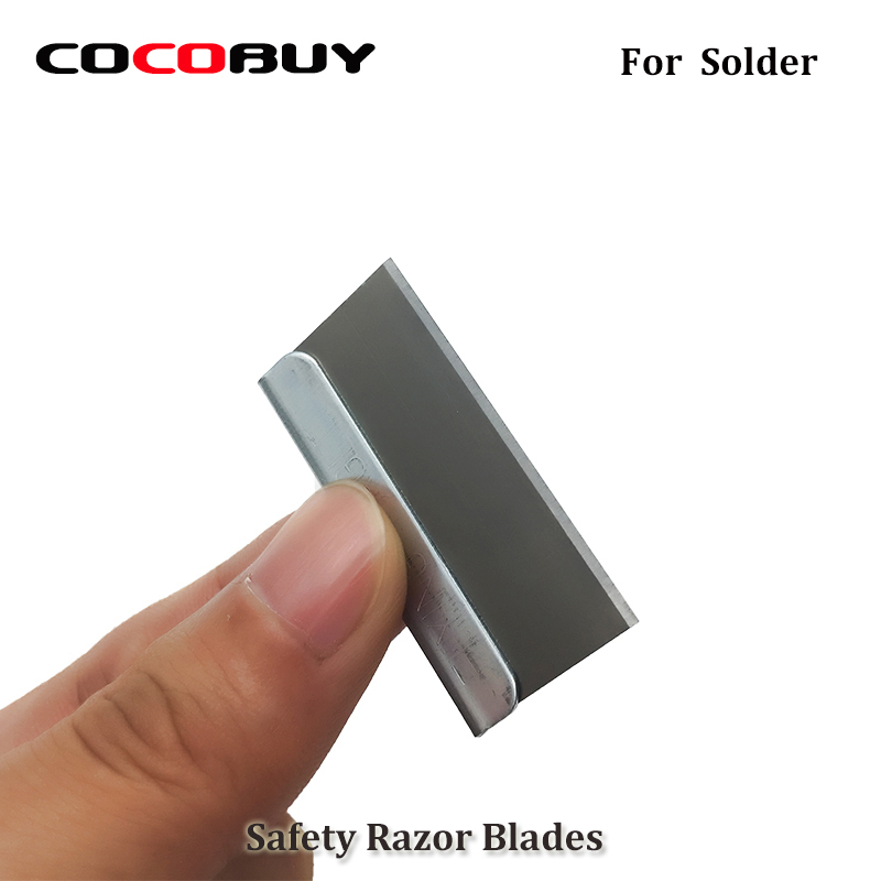Novecel 100 pcs/pack Single Edge Safety Razor Blades for Solder Removing the Polarizer Film