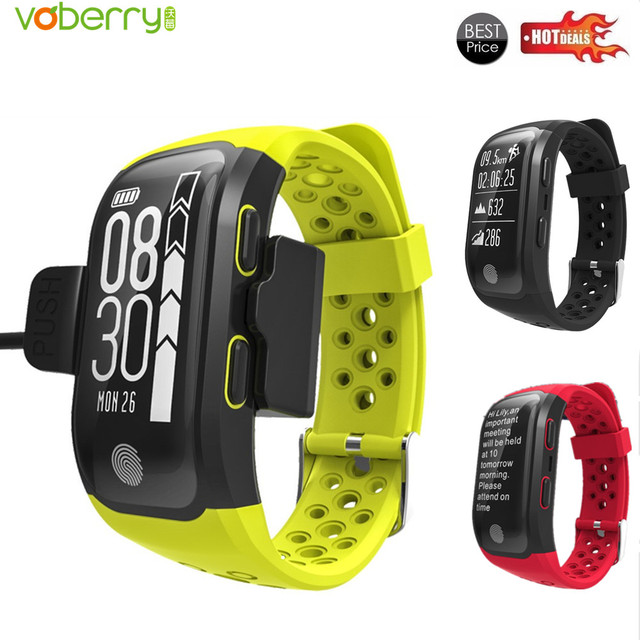 Smart Bracelet IP68 Waterproof Smart Band Heart Rate Monitor Fitness Tracker Call Reminder GPS chip S908 Sports Wristband