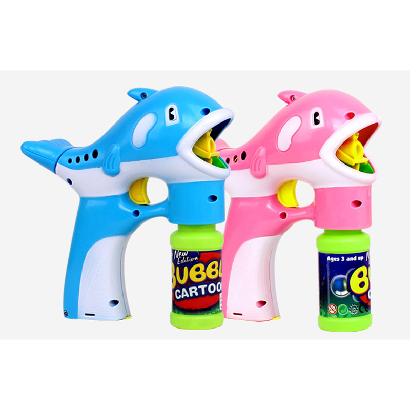Dolphin Automatic Flashing Bubble Music Blowing Machine Toy Colorful Soap Kid Bubbles Toys FJ88