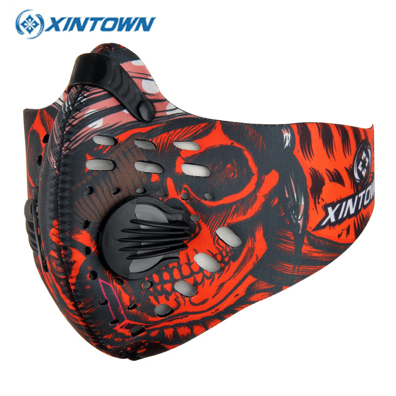 Men Outdoor Cycling Mask Women Activated Carbon Dust-proof Cycling Face Mask Anti-Pollution Bicycle Bike Outdoor Training Mask