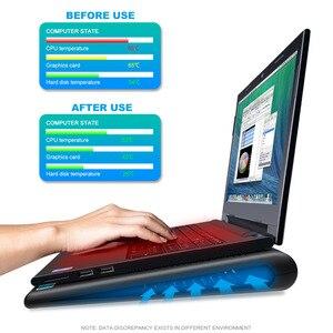 """Image 3 - TeckNet portátil ordenador portátil almohadilla de refrigeración soporte 2 ventiladores USB silencioso portátil refrigerador se adapta a 9 """" 16"""""""