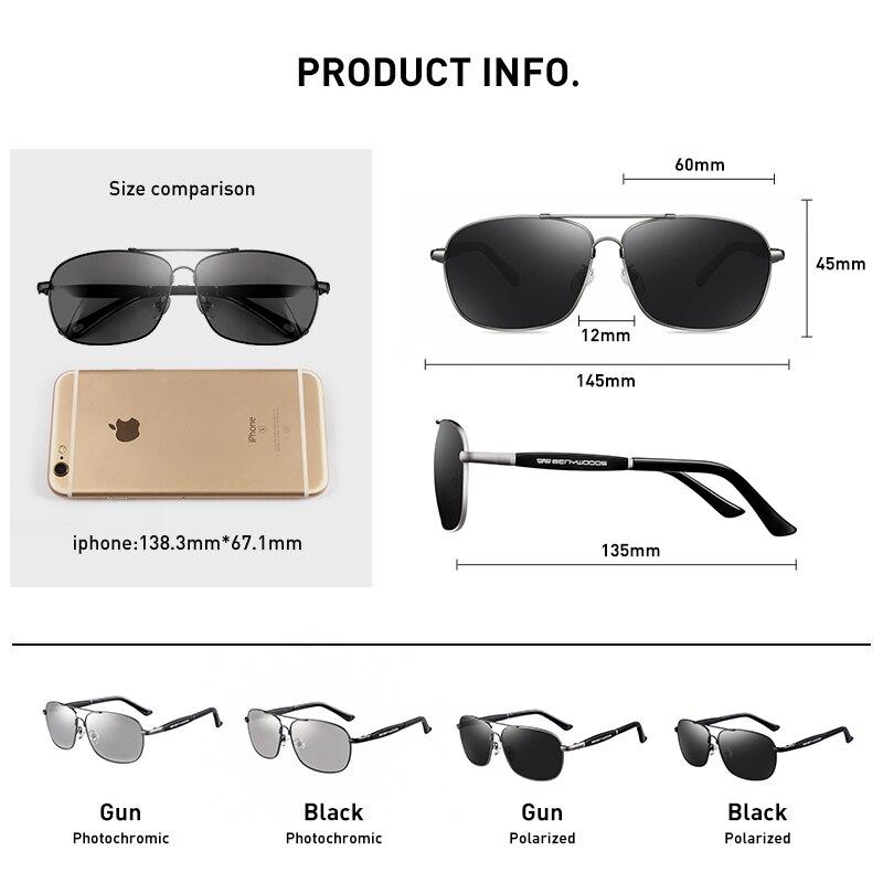 Image 5 - CAPONI Vintage Sunglasses Polarized Men Women Luxury Brand Designer Driving Eye Glasses Square Fashion Sun Glasses UV400 CP10001-in Men's Sunglasses from Apparel Accessories