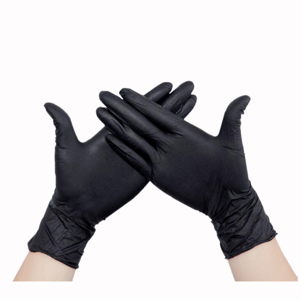 Black latex gloves xl - S Size Black Powder Free Disposable Nitrile Gloves Piercing Mechanic Tattoo 100x China Mainland