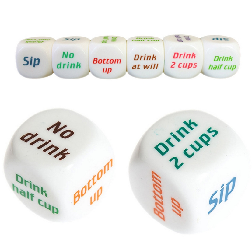 3pcs/lot 25mm 6 Sided Cubes Drinking Dice Fun Bar KTV Party Dice Game Entertainment Dice