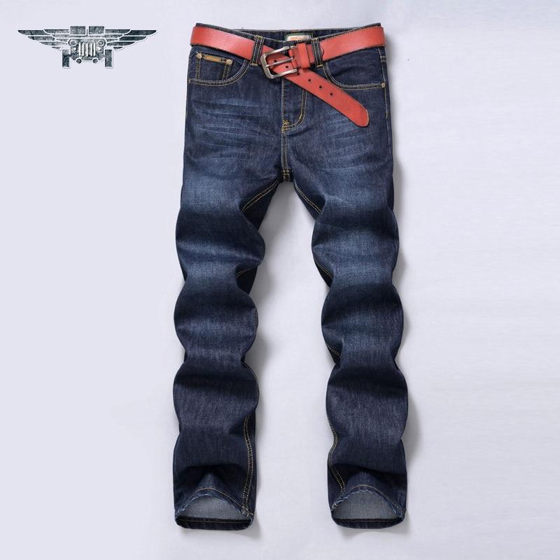 2016 Brand High Quality Casual Jeans Men's Denim Trousers Pants Male Loose Straight Jeans #8007 men slim jeans high quality brand straight denim overalls male trousers fashion classic 6xl boyfriend casual cowboy pants 2017
