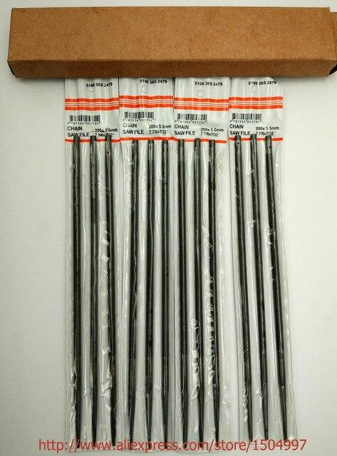 """#76060 MADE IN JAPAN 12 pilniki do pił łańcuchowych 7/32 """"5.5 MM do ostrzenia wszystkich marek łańcuchy do ostrzenia pił tuzin"""