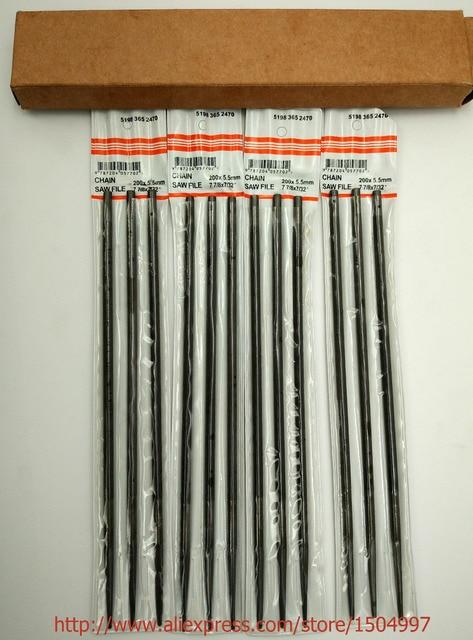 """N. ° 76060, hecho en Japón, 12 limas de motosierra de 7/32 """"y 5,5 MM para afilar todas las marcas, sacapuntas de cadenas, 12 filas"""