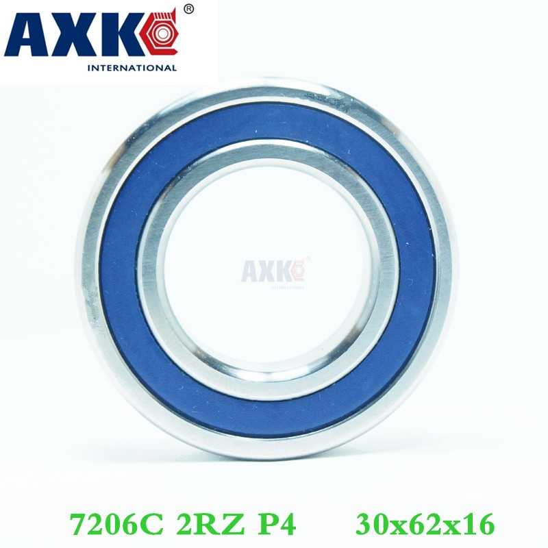 Axk 1pcs 7206 7206c 2rz P4 30x62x16 Sealed Angular Contact Bearings Speed Spindle Bearings Cnc Abec-7 1pcs axk 7010 h7010c 2rz hq1 p4 50x80x16 sealed angular contact bearings ceramic hybrid bearings speed spindle bearings cnc