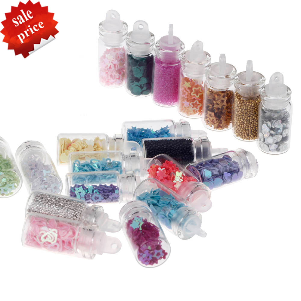 20 bottles nail art decorations multicolor nail art for 3d nail decoration