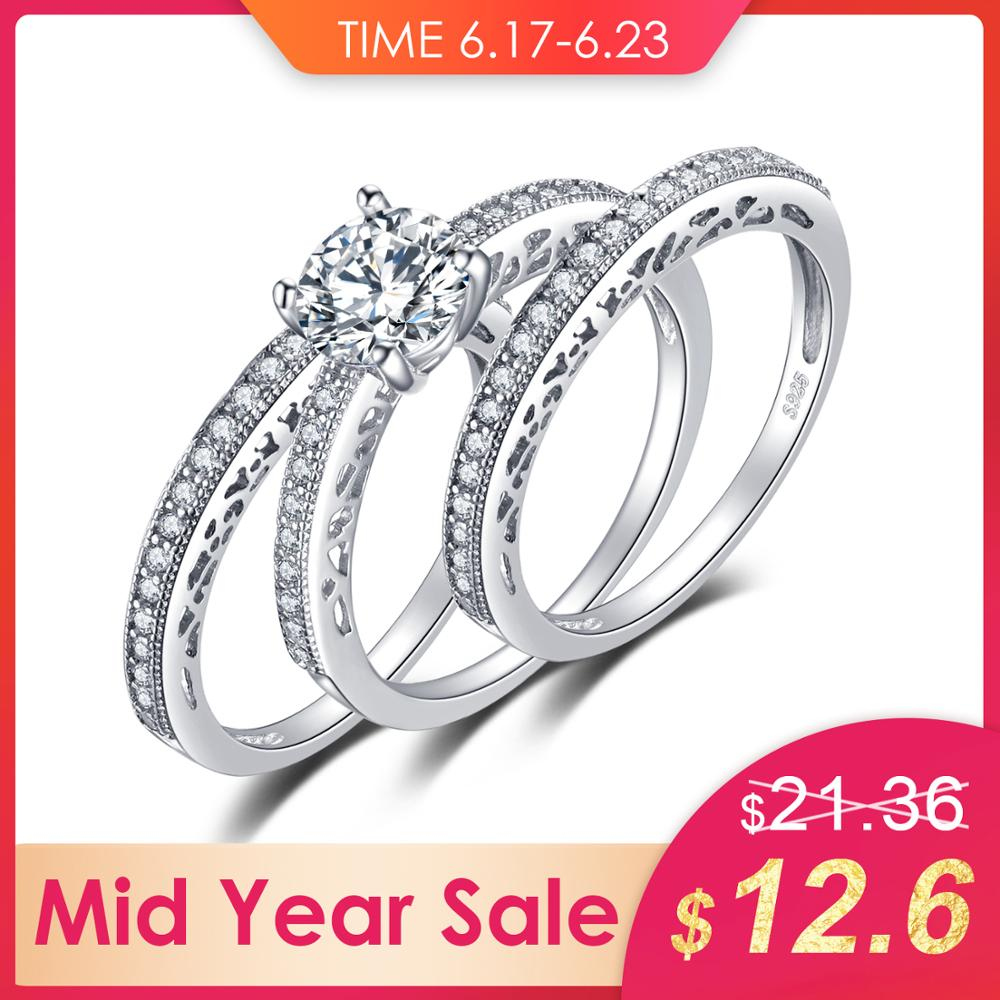 Jewelrypalace Vintage 1 5ct 3 Pcs Anniversary Wedding Band