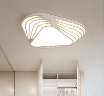 Desain Baru Lampu Langit-langit Modern Diy Segitiga LED Plafon Kamar Tidur Lampu Nordic Ruang Tamu Lampara Rumah Indoor Lampu Langit-langit