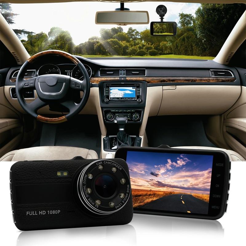 4inch Car DVR Camera Dual Lens with ADAS LDWS Full HD 1296P Car Distance warning Dashcam Video Recorder Registrar 2 7 inch r310 tft lcd dual 2 lens car dvr video recorder