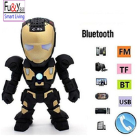 Fuy Bill C 89 Bluetooth Speaker With LED Flash Light Deformed Arm Figure Robot Portable Mini