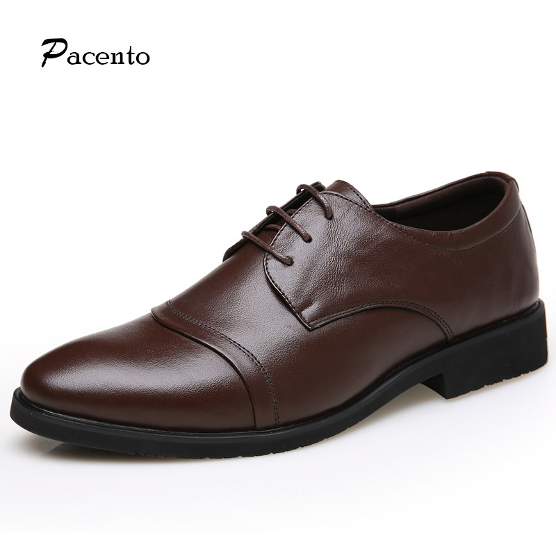 цена PACENTO Luxury Brand Shoes Mens Genuine Leather High Quality Italian Shoes Men Casual Handmade Formal Men's Shoe Chaussure Homme онлайн в 2017 году