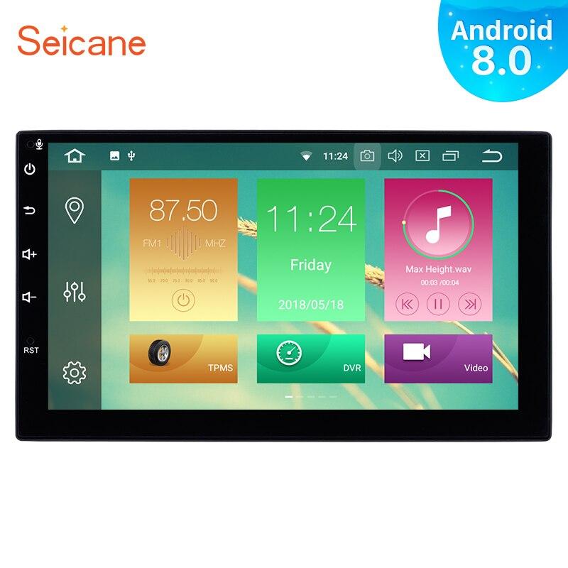Seicane Android 8.0 7inch 2Din 8 Core Car Radio GPS Stereo Multimedia Player For Universal NISSAN TOYOTA TIIDA Perodua Daihatsu