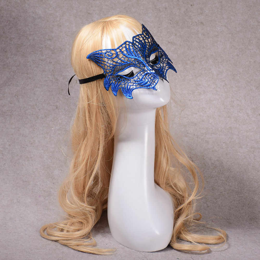 ... Masquerade Lace Mask Catwoman Halloween Cutout Prom Party Mask  Accessorie anime cosplay mask Punk sexy fantasias ...