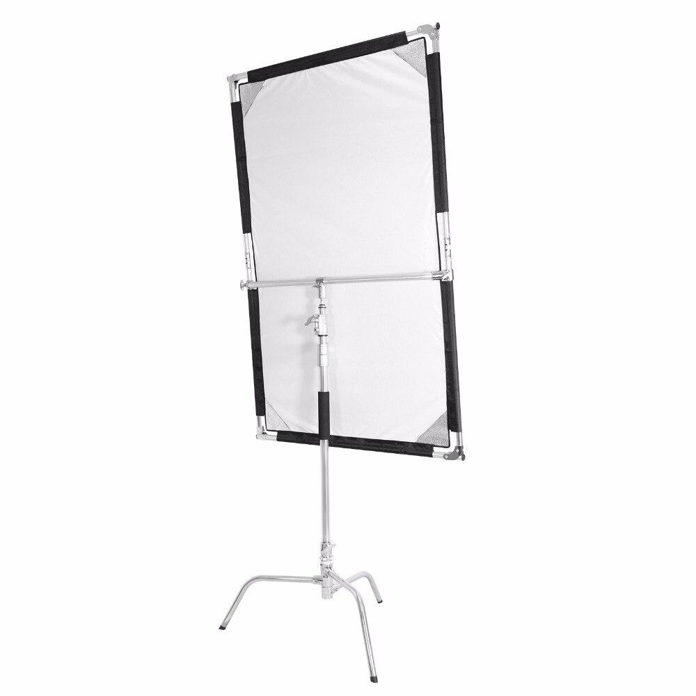 Meking 1.6x1M Studio vidéo pliable en acier inoxydable drapeau panneau réflecteur diffuseur accessoires de photographie Fotografia-in Accessoires pour studio photo from Electronique    1