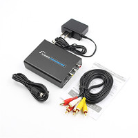 HDMI To 3RCA AV CVBS Composite S Video R/L Audio Video Converter Adapter 1080P
