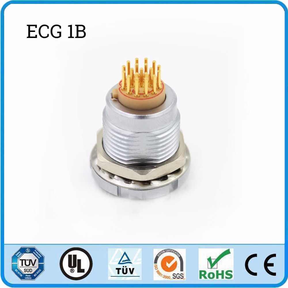 LEMO металлический круговой разъем ECG 1B 2 3 4 5 6 7 8 10 14 16 контактный разъем два гайки прямой контакт для печатной цепи