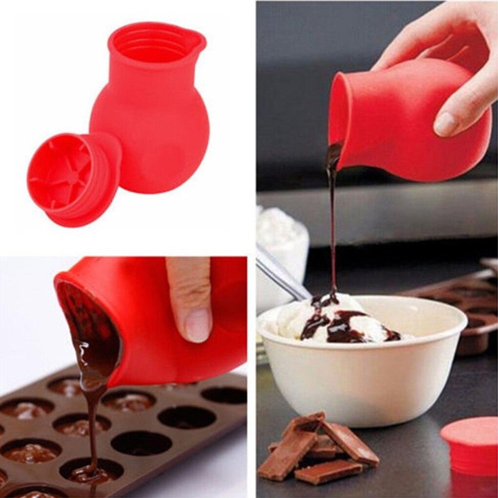 Cuisine rouge Split-Up Pot chocolat fondant moule Pot beurre Sauce lait Silicone verser cuisine chaleur micro-ondes cuisson outils