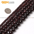 Natural Round Faceted Garnet Stone Beads For Jewelry Making 4-16mm 15inches DIY Jewellery FreeShipping Wholesale Gem-inside
