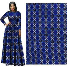 African national clothing geometric printing pattern polyester cloth african print fabric  100% Polyester purple