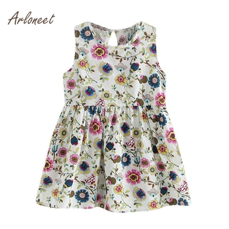 Lovely Toddler Girls Summer Princess Dress Kids Party Wedding Sleeveless Clothes