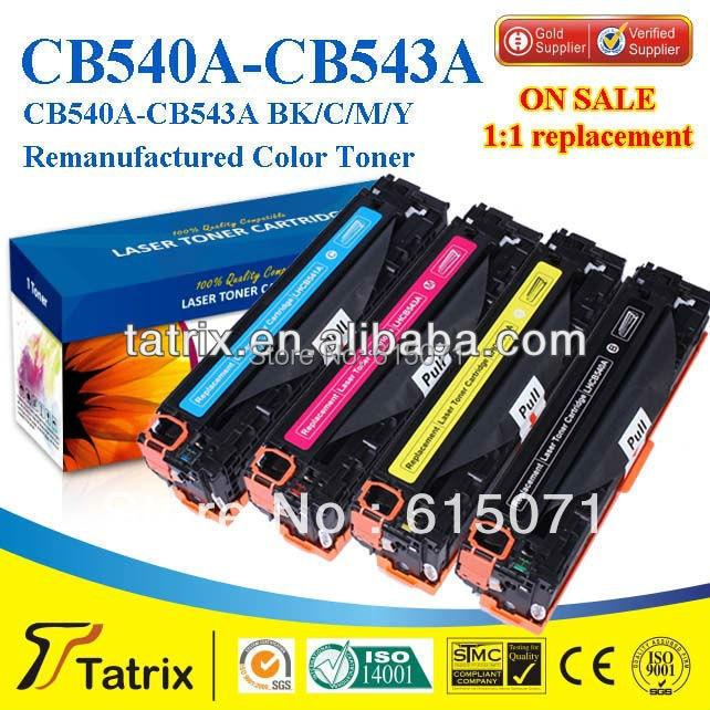 ФОТО FREE DHL MAIL SHIPPING. CB540A Toner Cartridge ,Triple Test CB540A Toner Cartridge for HP toner Printer