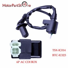 Катушка зажигания 6Pin конденсаторное зажигание с кабелем коробки для Honda XR CRF TRX 50 70 125 250 300cc двигателя мотоцикла Байк Скутер мопед вездеход Go Kart @ 20