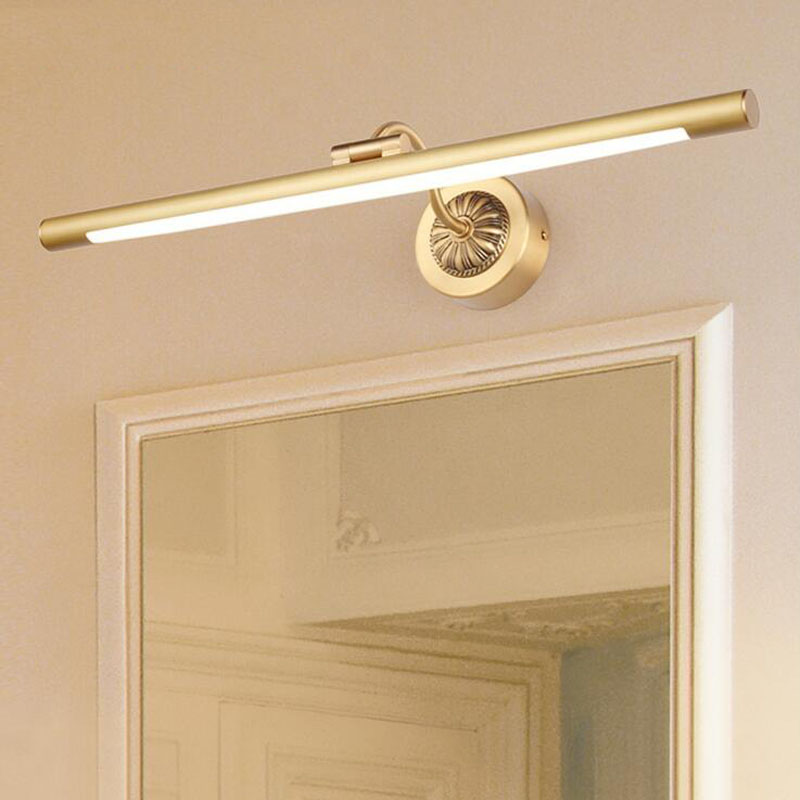 L Led Gold Mirror Cabinet Light Simple Bathroom Moisture Proof Bathroom Mirror Headlight Dressing Table Retro Strip Wall Lamp Led Indoor Wall Lamps Aliexpress