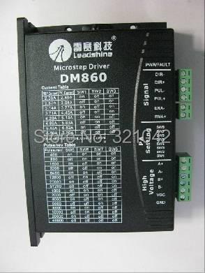 все цены на Leadshine DM860 2-Phase Digital Stepper Drive of 20 - 80 VDC Input Voltage and 2.4 - 7.2A Output Current онлайн