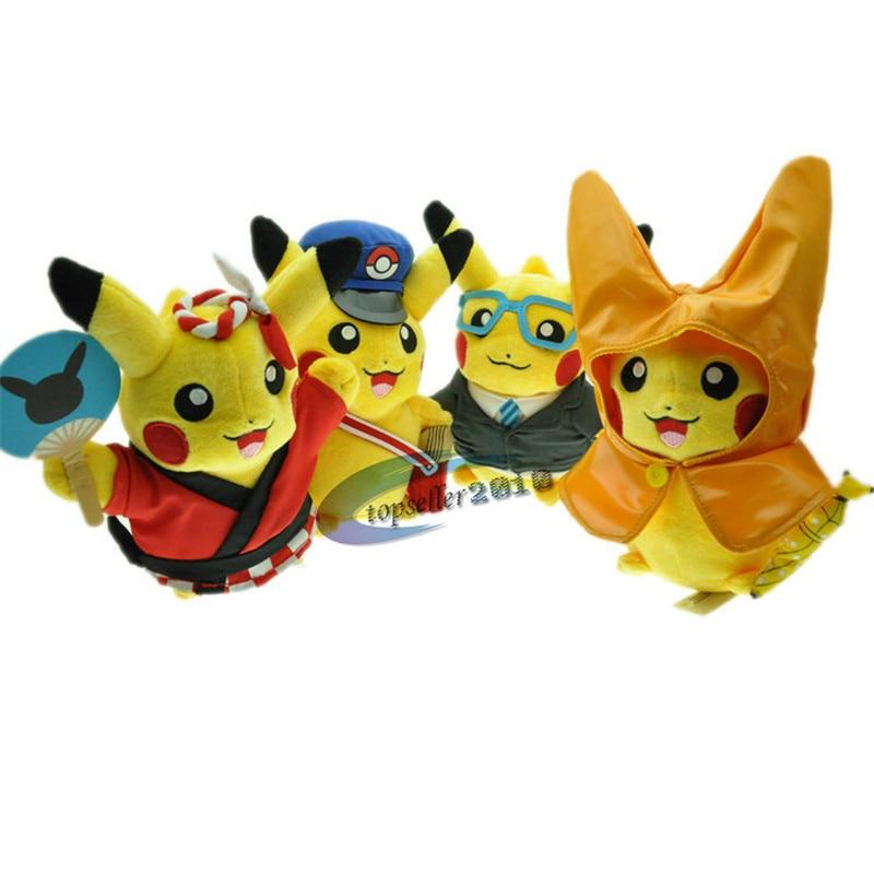New Pokemon Pikachu Cosplay Work Student font b Plush b font Toys18cm Lovely font b Stuffed