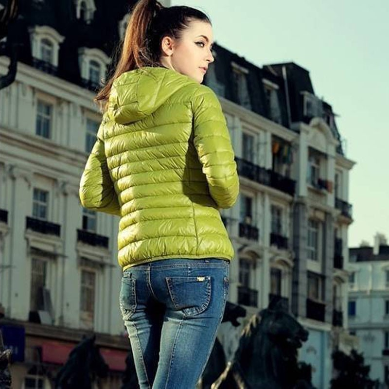2018 Autumn Winter Women   Basic     Jacket   Coat Female Clothes Slim Long Sleeve Hooded Quilted   Jackets   Outerwear Chaqueta Mujer DG346