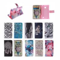 Flip Bags phone case PU Leather Cover Protector Skin +Stand & Card Holder for Nokia Lumia 530 N530 LH