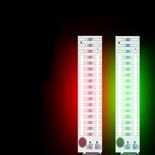 2 × 17 LED USB 音声制御レベルインジケータ Vu メーターアンプボード音楽スペクトルボリュームレベルインジケータライト