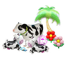 inflatable cow balloon animals toys 1st birthday boy children party decoration birthday balloons farm animal balloons(China)