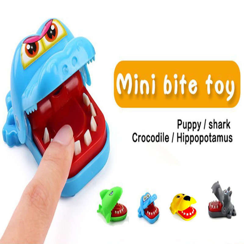 New Animal Bite Finger Game Novely Toy Funny Trick Crocodile Shark Dog Hippo Dentist Toy for Kids Gift in Gags Practical Jokes from Toys Hobbies