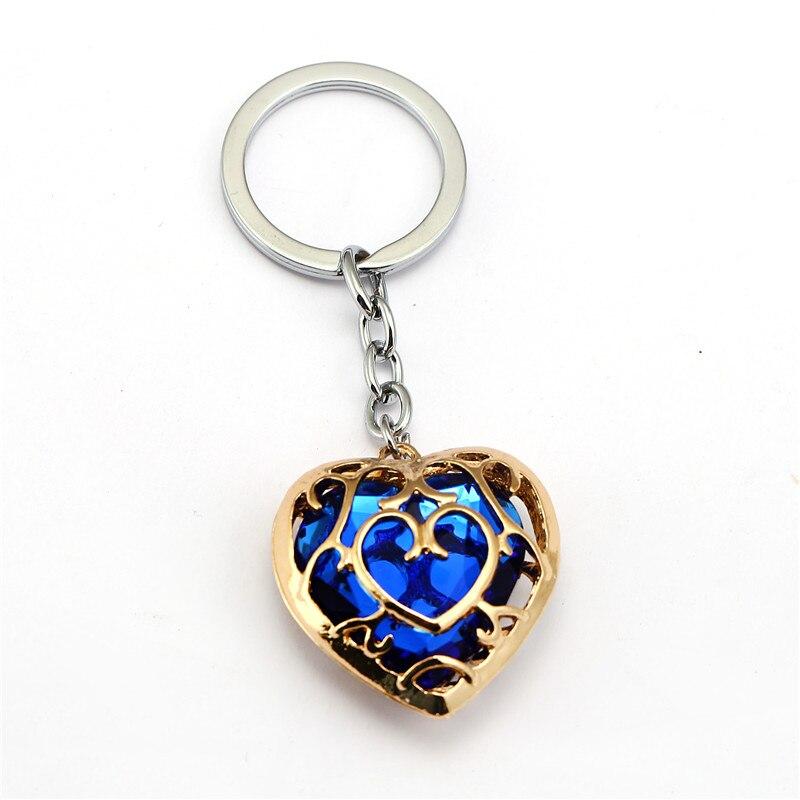 Легенда о Зельде брелок синий красный сердце брелок со стразами держатель модный автомобиль chaviro игра брелок кулон подарок ювелирные изделия - Цвет: lan