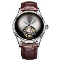 Original High end Custom Geschenk Uhr Leopard Auge Tourbillon Hohl männer Automatische Mechanische Männer Top Marke Uhr Saphir spiegel-in Mechanische Uhren aus Uhren bei