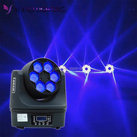 Мини луч 6x15 Вт RGBW 4in1 пчелы глаза светодиодный движущихся головного света с 11/14CH DMX DJ